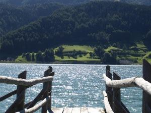 Grauner Berg (2.526m) und Pedrosee - hoch über dem Reschensee