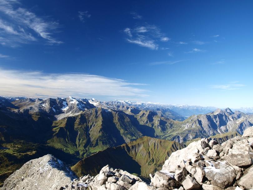 Panorama auf dem Widderstein