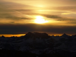 Morgenerwachen auf der Göppinger Hütte