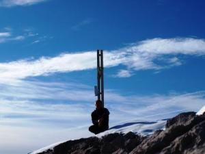 Auf dem Gipfel des östlichen Johanneskopf