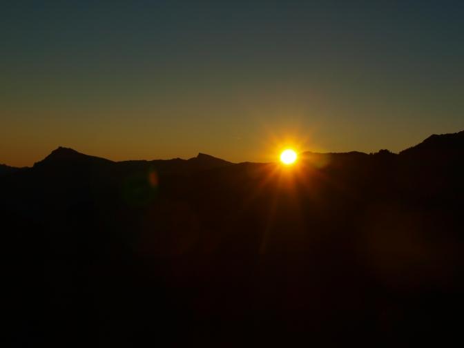 Guten Morgen in den Bergen