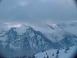 Wolkenfelder über den Gipfeln