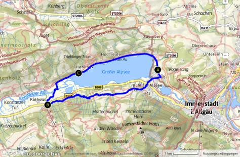 Großer Alpsee - Umrundung