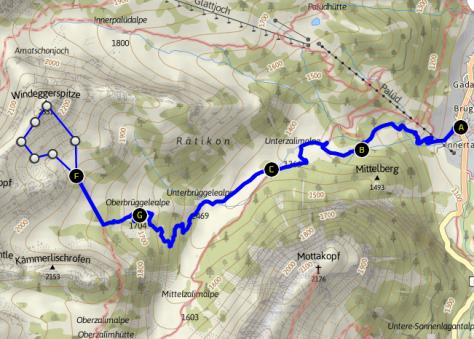 Windeggerspitze - Weg