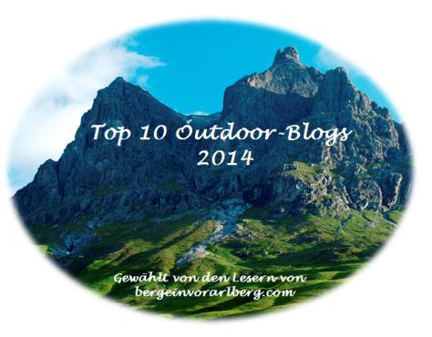 Beliebtester Outdoor Blog 2014 - Award - Top 10