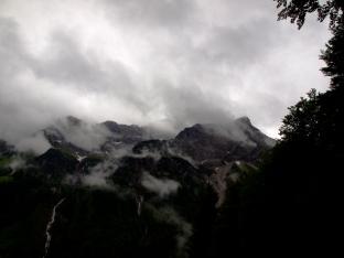 Regen in den Bergen