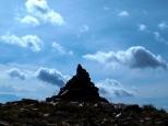 Steinmandl am Gipfel