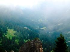 Blick auf das Hüttendorf