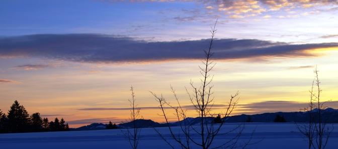 Eine leichte, aber schöne Schneeschuhtour auf dem Pfänderrücken
