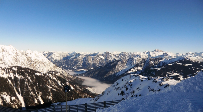Sonnen-Skigebiet Golm im Montafon