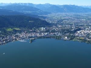 Ballonfahrt im Rheintal