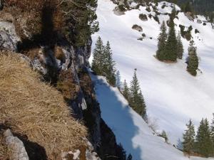 Blick in Richtung Klettersteig