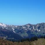 Blick zu den Gipfeln von Damüls