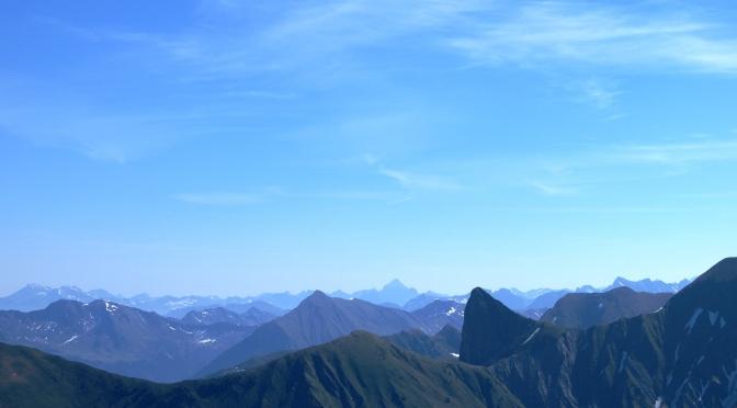 Zafernhorn (2.107m) – Blick auf die Riesen in Vorarlberg