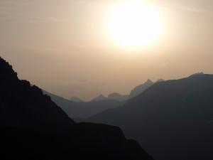 Herrliche Morgenstimmung in den Bergen